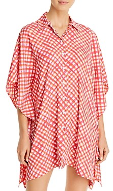 Tommy Bahama Printed Button-Front Cover-Up Shirt