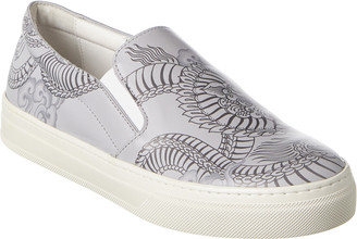 Tod's Tattoo Leather Slip-On Sneaker