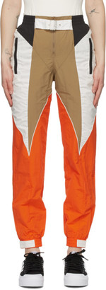 adidas Tan and Orange Paolina Russo Edition Piping Track Pants