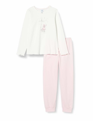 Sanetta Girls' Schlafanzug Broken White Pajama Set