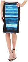 Calvin Klein Print Blocked Pencil Skirt