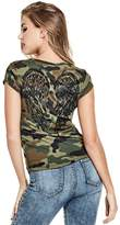 G by Guess Women's Ashlee Sequin Wing Tee
