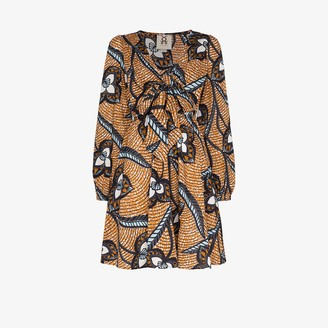 Figue Willow printed cotton mini dress