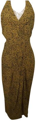Nicole Farhi Yellow Silk Dress for Women