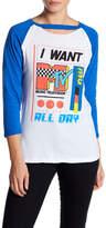 Freeze MTV Raglan Long Sleeve Choker Neck Shirt