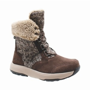 AdTec Womens Microfleece Lace Winter Boot Women's Shoes