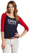 Levi's Women's Raglan Sleeve T-Shirt with Studs