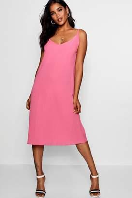 boohoo Jasmine Plunge Front Cami Midi Dress
