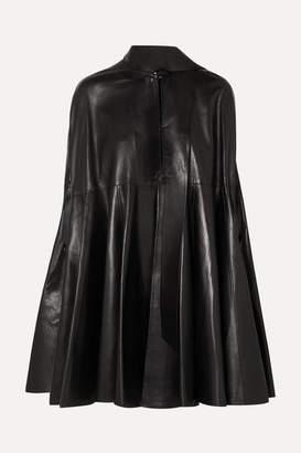 Valentino Draped Leather Cape - Black