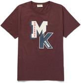 Maison Kitsuné - Printed Mélange Cotton-jersey T-shirt