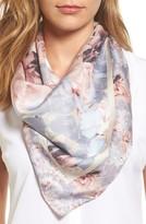 Rebecca Minkoff Women's Vintage Rose Square Silk Scarf