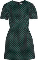 Mary Katrantzou Azurite Jacquard Mini Dress - Emerald