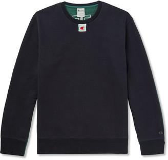 Champion + Craig Green Appliqued Colour-Block Loopback Cotton-Blend Jersey Sweatshirt