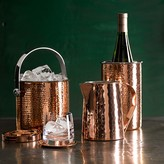 Williams-Sonoma Hammered-Copper Ice Bucket With Lid
