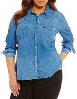 Levi's s Plus Western Button Front Shirt