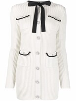 Thumbnail for your product : Self-Portrait Lurex Knit Mini Dress