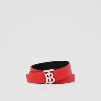 Burberry Reversible Monogram Motif Grainy Leather Belt
