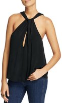 Free People Womens Buckle Keyhole Blouse L