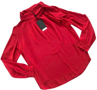 Sand Red Silk Top for Women