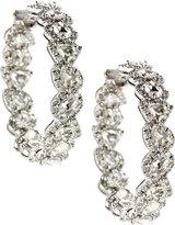 Diana M. Jewels 18k White Gold Mixed Diamond Hoop Earrings, 0.6tcw