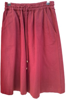 Vanessa Seward Burgundy Cotton Skirt for Women