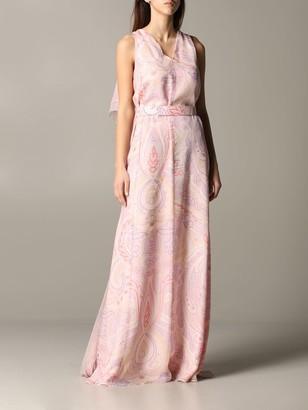 Max Mara Alceste Dress In Printed Chiffon