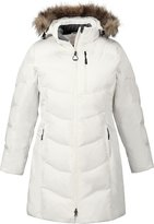 Ash City North End Ladies' Boreal Down Jacket with Faux Fur Trim M