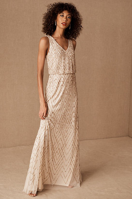 BHLDN Blaise Dress By in Beige Size 20