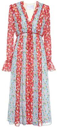 Carolina Herrera Floral crepe midi dress
