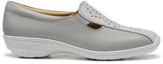 Hotter Calypso Wide Fit Slip On Flat Shoes - Grey