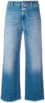 Closed frayed wide leg jeans - women - Cotton/Spandex/Elastane - 27