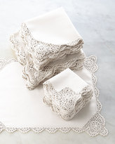 Horchow 12 Crochet-Edge Tea Napkins