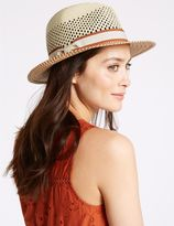 Marks and Spencer Zigzag Weave Summer Hat