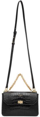 Givenchy Black Croc Small Catena Bag