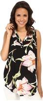 Karen Kane Midnight Floral Sleeveless Top