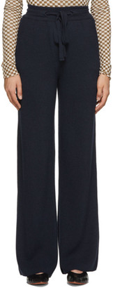 Nanushka Navy Wool Oni Lounge Pants