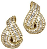 Charles Krypell 18K Yellow Gold with 5.76ct Diamond Earrings
