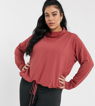 Nike Training Plus Yoga long sleeve cover up in pink