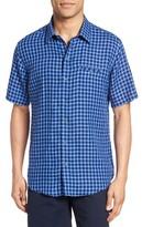 Zachary Prell Men's Ray Plaid Linen Sport Shirt