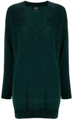 Elisabetta Franchi long-line v-neck jumper