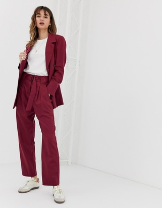Selected Margot pleated tailored co-ord pant in wool blend
