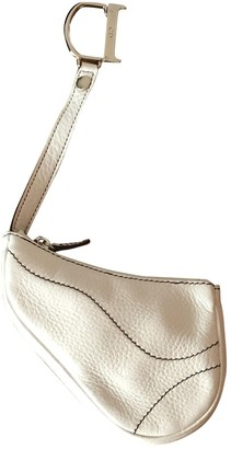Christian Dior Saddle White Leather Purses, wallets & cases