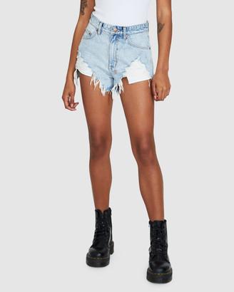 Ksubi Women's Shorts - Rise N Hi Shorts - Size One Size, 26 at The Iconic