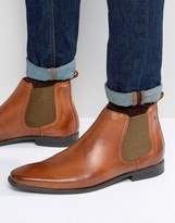 Base London William Leather Chelsea Boots