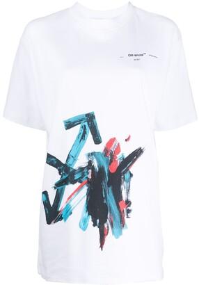 Off-White oversized brushstroke arrow T-shirt