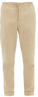 Officine Generale Phil Garment-dyed Brushed-twill Trousers - Mens - Beige