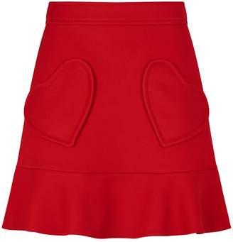 RED Valentino Heart Pockets Mini Skirt