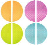 Clear Colors Eight-Piece Half Circle Base Plate Set