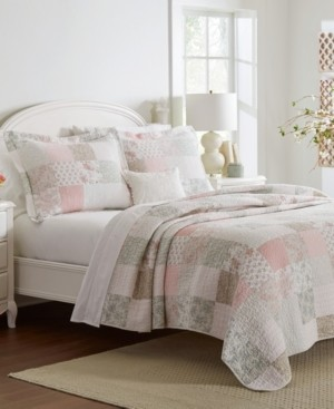 Laura Ashley Celina Twin Patchwork Quilt Set, 2 Piece Bedding