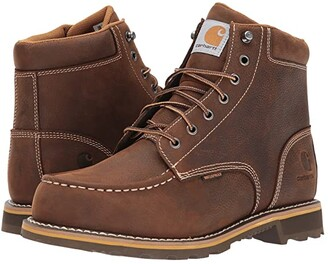 Carhartt 6 Waterproof Non-Safety Moc Toe Lug Boot (Dark Bison Oil Tanned) Men's Work Boots